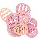 groothandel Woondecoratie: Houten eiermarlijn om te strooien, 3 kleuren, 72 s